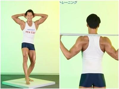 日福岡選舉「超ㄎㄧㄤ」宣傳 倒三角筋肉男深蹲大秀猛肌Φ౪Φ