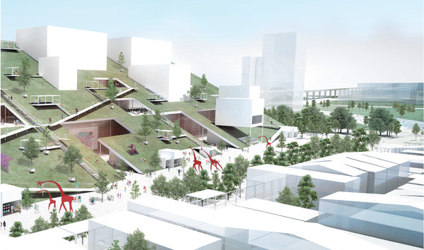 桃園美術館2023年完工!「夢幻玻璃山丘」造型超美...空中廊道連通兩館