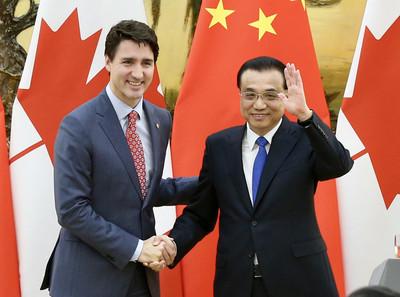 李克強新加坡會晤杜魯道 推進與加國FTA談判