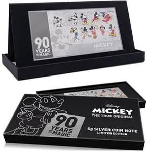 米奇粉手刀 慶祝90周年 台銀銷售銀鈔幣