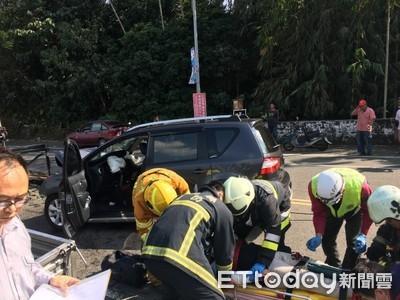 酒駕撞超載 南投車禍8人輕重傷