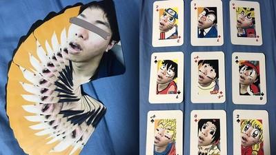 男大生畫睡相卡通撲克牌 網全笑歪!