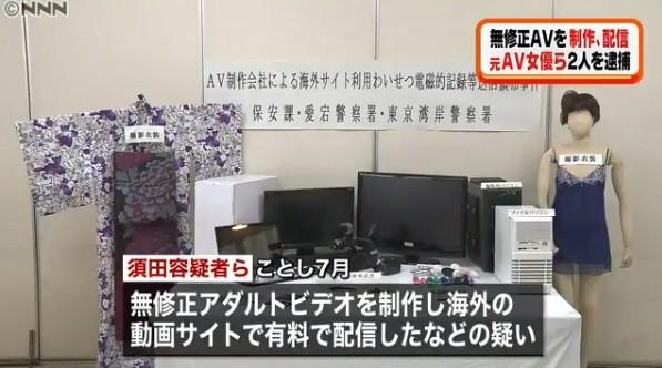 ▲AV女優土屋亞沙美拍無碼片賺取暴利被逮捕。(圖/翻攝自推特)