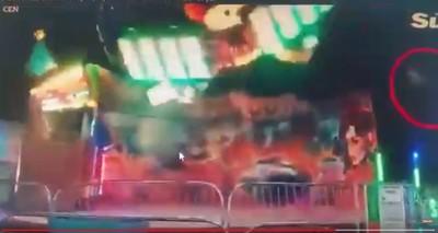 遊樂設施故障 少女遭噴飛重摔
