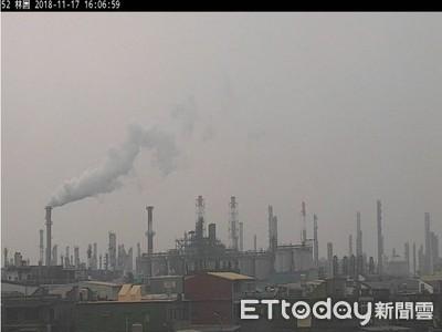 霧霾讓大樓「被消失」!高雄5測站空品指標達紅害