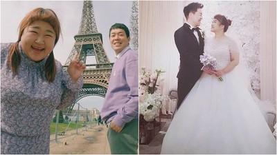 「幸福肥CP」洪允和為愛鏟肉30公斤 長跑8年男友親作結婚曲閃瞎!