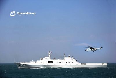 071型兩棲艦東海演練 卡-31任預警艦載機