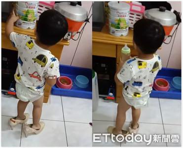 2歲底迪「踩老媽細跟」驚呆OL