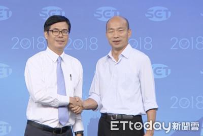 韓國瑜邀跨年合體演唱 陳其邁拒絕