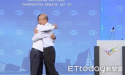 擁抱韓國瑜的觸感怎樣? 陳其邁:他瘦了
