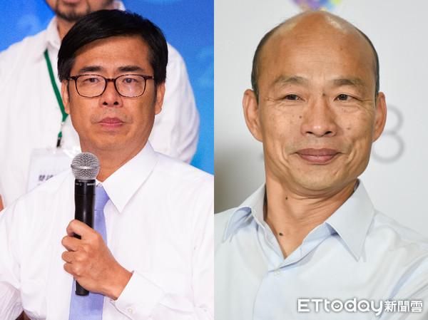 ▲▼陳其邁、韓國瑜辯論對決。(合成圖/記者林敬旻、季相儒攝)