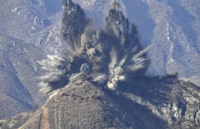 北韓炸毀非軍事區10處哨所