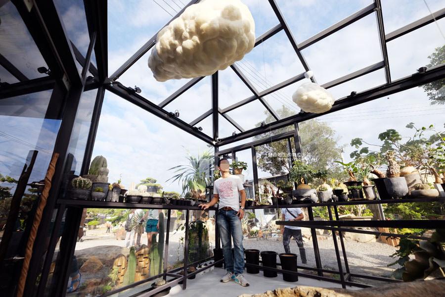 ▲▼玻璃溫室的雲朵造景。(圖/藍色起士的美食主義提供)