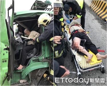 快訊/林口3車追撞聯結車駕駛受困