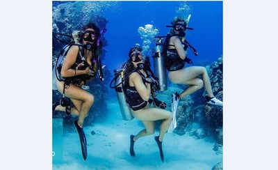 澳洲興起第100次就全裸潛水