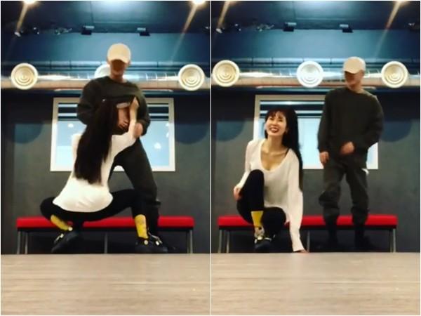 泫雅和E'Dawn合舞。(圖/翻攝自泫雅IG)