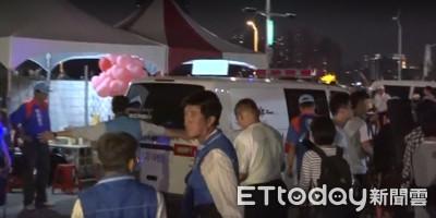 即/太激情!韓國瑜選前之夜老翁突昏倒