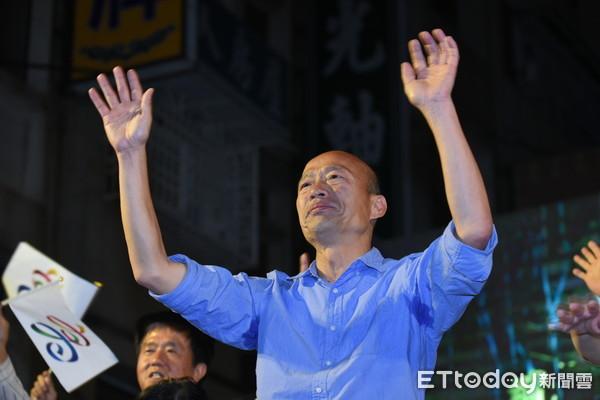 ▲▼國民黨高雄市長當選人韓國瑜致詞向支持者道謝。(圖/記者林敬旻攝)