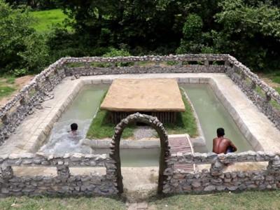 兩週蓋出泳池豪華宅!柬埔寨YouTuber「徒手起厝」只靠原始求生招