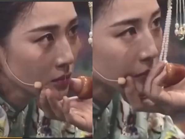 ▲張鈞甯的漏網鏡頭被網友翻出,經超立刻幫她抹掉鼻涕的畫面瘋傳。(圖/翻攝自《秒拍》)