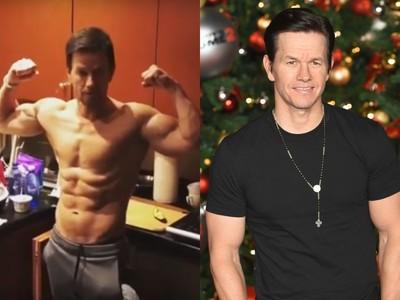 47歲男星凌晨2點健身變肌肉男