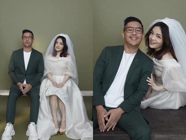 ▲徐佳瑩也曬出和比爾賈搞怪,還沒公開的其他婚紗照。(圖/翻攝自徐佳瑩Instagram)