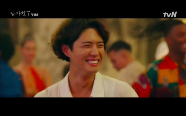 ▲▼雷/《男朋友》只花1天愛上她! 第一集就「親密接觸」粉粉崩潰。(圖/翻攝自tvN)