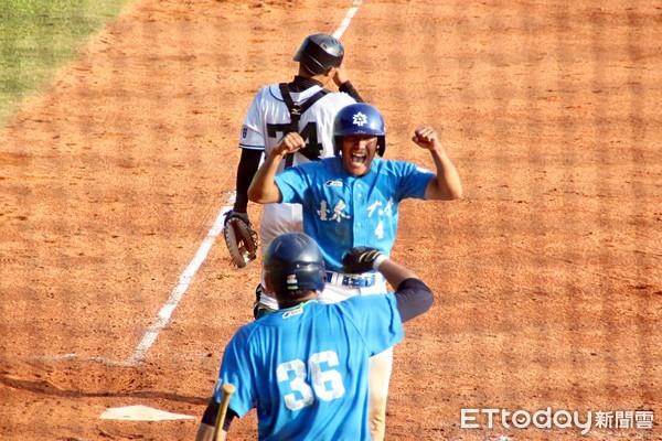 ▲107學年度大專棒球聯賽,台東大學。(圖/記者路皓惟攝)