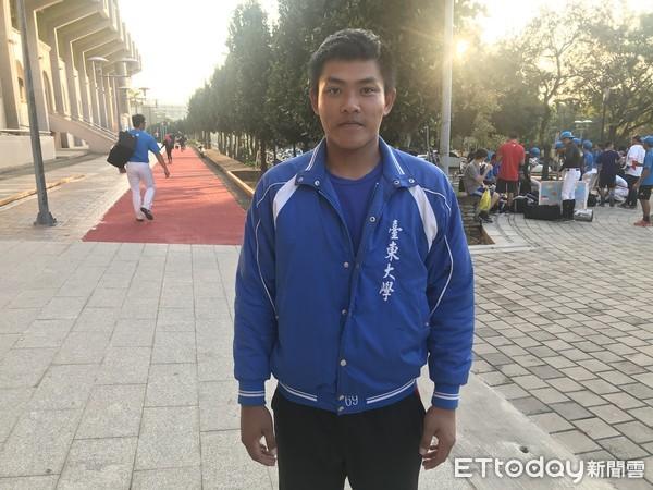 ▲107學年度大專棒球聯賽,台東大學黃瑄。(圖/記者路皓惟攝)