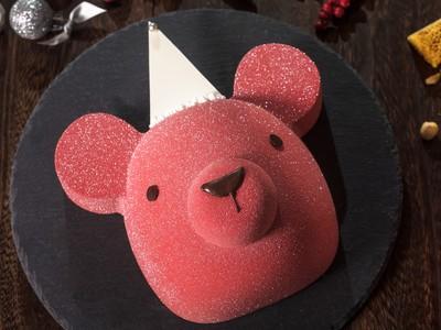 聖誕倒數23天/小b紅色萌熊蛋糕