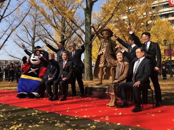 ▲尾田榮一郎以《航海王》魯夫名義捐出8億日幣救熊本震災。(圖/翻攝自推特/ONE PIECE)