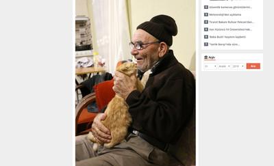 家被燒光爺爺抱貓哭 現在小橘變大橘