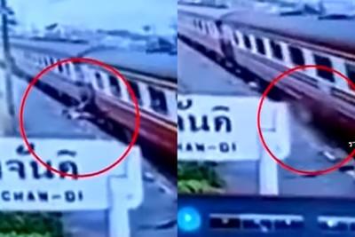 畫面曝!媽搭火車墜鐵軌遭輾壓慘死