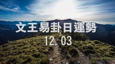 文王易卦【1203日運勢】求卦解先機