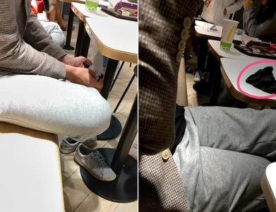 麥當勞男脫襪擺桌上 女困牆角1hr