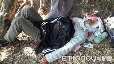 男登山失足滑倒傷脊椎 警消花5小時接駁