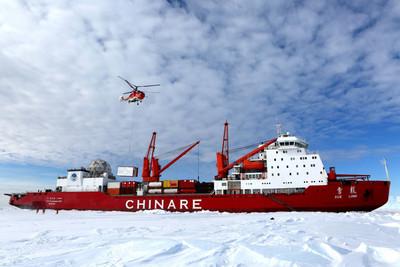 歷經29天!雪龍號破冰抵南極卸貨