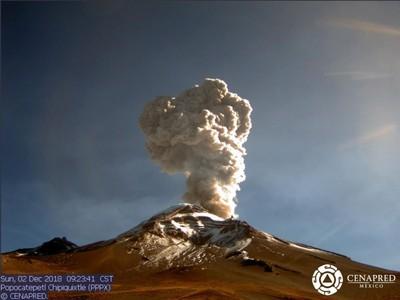 墨西哥火山爆發 火山灰噴2500米