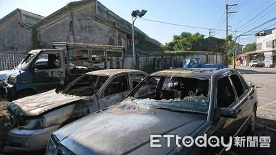 老車怠速自燃 男險燒死毀3車