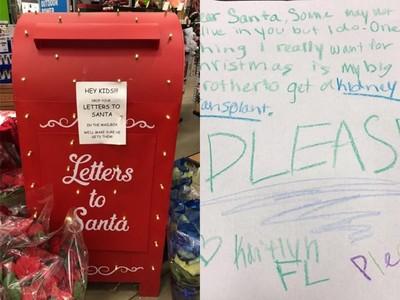 「我想要一顆腎」 女童不捨哥哥每天洗腎,寫信給聖誕老人討禮物