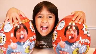 YouTuber吸金冠軍 7歲男孩賺6億
