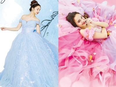 超夢幻的迪士尼公主婚紗