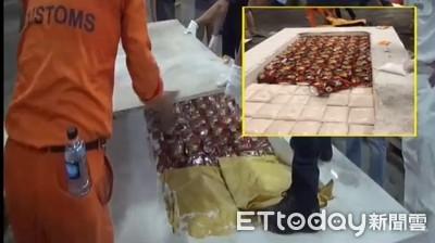 市價12億K毒藏大石板 1.2公噸全數查獲