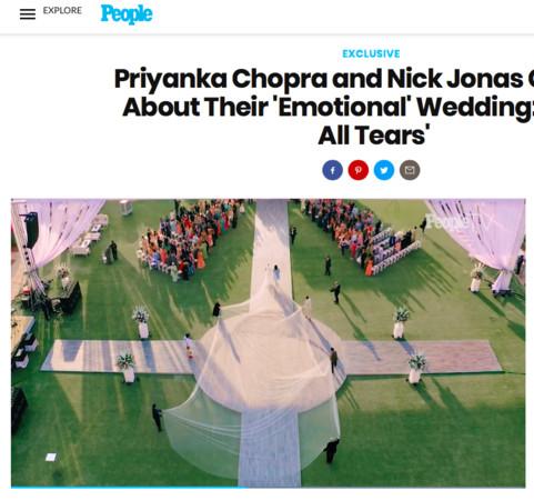 ▲▼尼克強納斯世紀婚禮。(圖/翻攝自尼克強納斯IG、翻攝自時人雜誌)