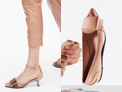 豆豆鞋打上超大蝴蝶結