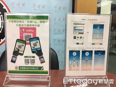 郵局再推「台灣Pay」掃碼付 P2P也適用
