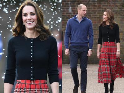 凱特王妃耶誕裝亮相!