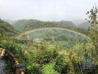 看到的要幸福喔!陽明山突現彩虹群