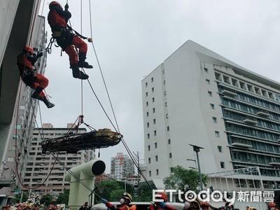 消防局與民間救災團體 演練增救災效率