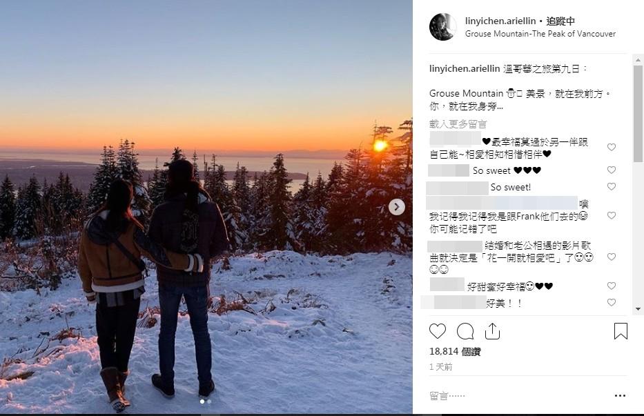 ▲林依晨結婚4年罕見放閃。(圖/翻攝自林依晨Instagram)